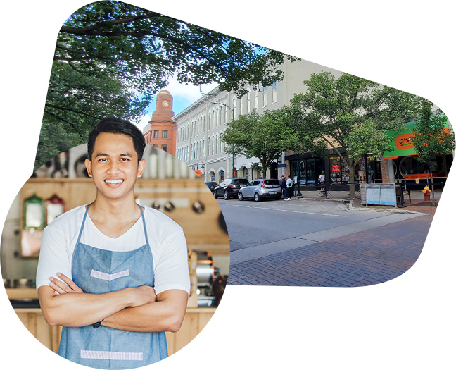 Shopkeeper downtown Traverse City